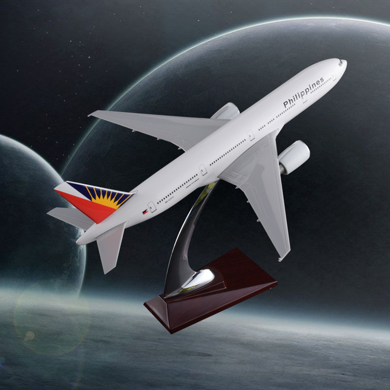 32cm Resin Philippines Airlines Boeing 777 Aircraft Model B777 Airplane Airbus Philippines International Airways Model Gift Toys bbox200 1 200 american frontier airlines boeing 737 200 aircraft model n1pc alloy collection model