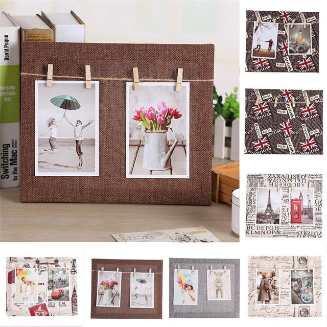 1pc Paper Photo DIY Cloth Wall Art Picture Hanging Album Frame With ...
