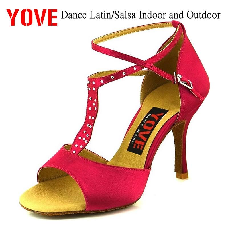 YOVE Style w134-25 Dansschoenen Bachata / Salsa Indoor en Outdoor dansschoenen voor dames