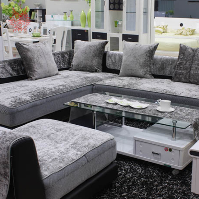 European Style Grey Black Blue Velvet Sofa Cover Plush Slipcovers Furniture Couch Covers Fundas De