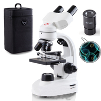 Professional optical microscope biological experiment 40X 1600X high powered portable electronic sperm binocular microscope