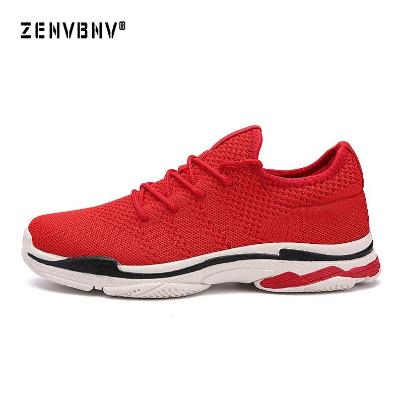 Zenvbnv Maille de Chaussures de Course Pour Hommes Respirant Sport  Chaussures Hommes Haute Qualité Sneakers Noir Mâle Lumière Confort Chaussures  de Sport 40a55b0ca83f