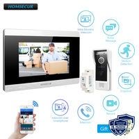 HOMSECUR 7 WiFi IP Wired Video Door Entry Security Intercom 1.0MP with Memory Monitor for Home Security