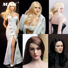 лучшая цена 1/6 Scale Sexy European Beauty Head Sculpt Carving KT004 KT005 KT006 KT007 KT008 Girl Head Carved Model for Suntan Action Figure