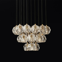 Modern Gold Crystal Chandelier K9 Luxurious Lustre Led Chandelier Lighting 10 22 Lamps Copper Pendant Dining