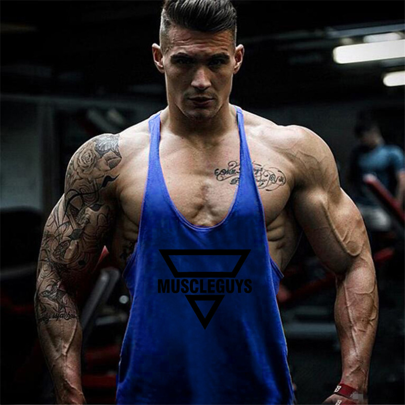 Newest Gyms Bodybuilding Stringer Tank Top Men Regata Fitness Vest Y Back Singlet World of Tanks Shirt Animal Gyms Clothing