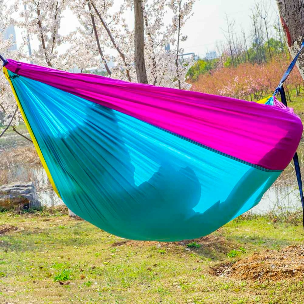 NEW ARRIVAL Outdoor Camping Hammock Portable Backpack Online Sale Indoor  Furniture Colorful Hammocks Folding Beach Travel Campus In Hammocks From  Furniture ...