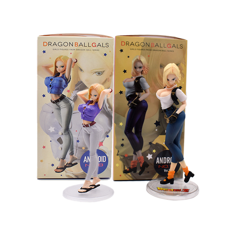 2 Styles Dragon Ball Z Android NO.18 Ver.III Dragon Ball Gals Lazuli Girls Figures PVC Action Collection Model Toys Dolls Kids