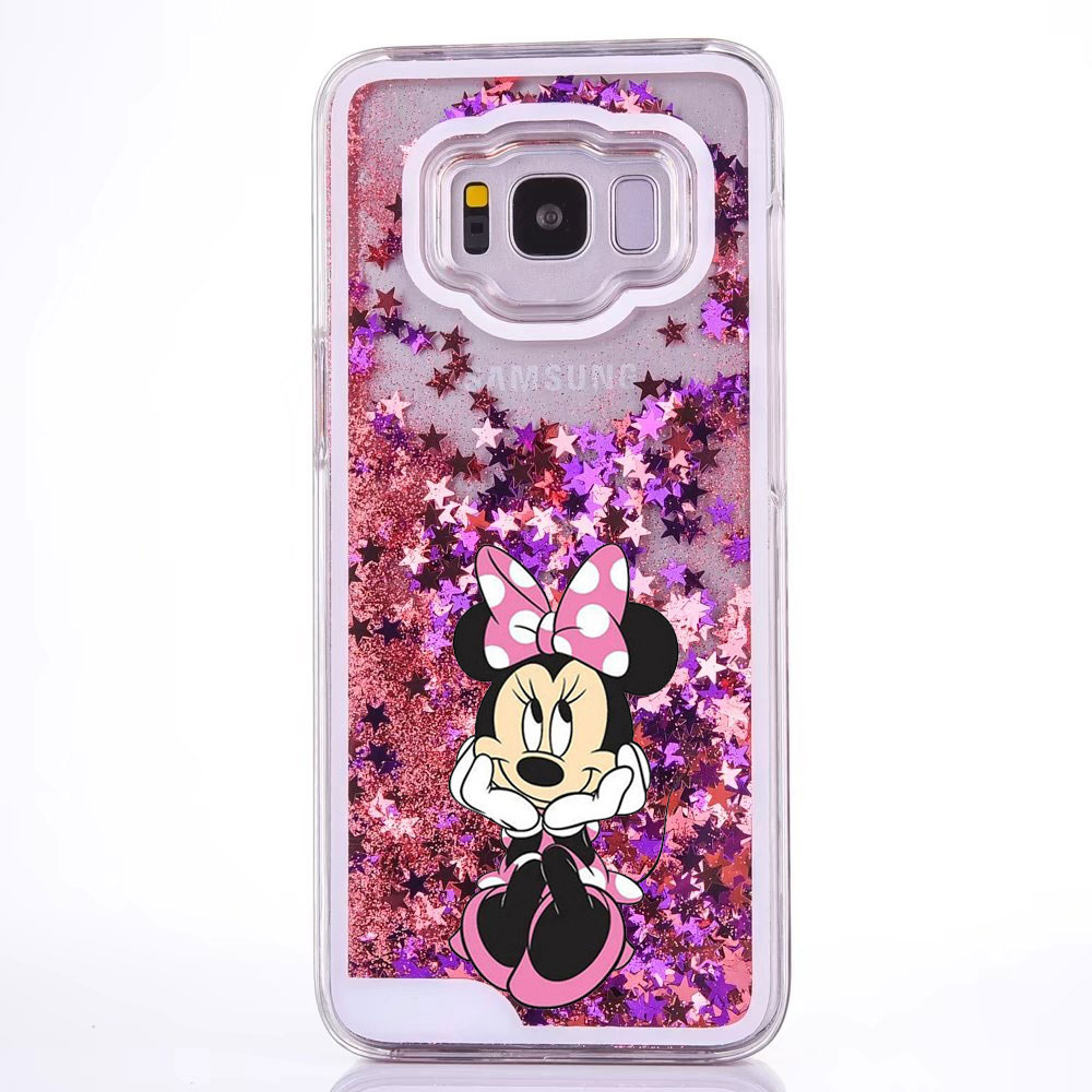 Water Liquid Case for Samsung GALAXY S9 S9Plus S7 S6 S5 S7edge S8/S8Plus Note 8 9 Mickey Minnie Mouse Mermaid Quicksand Cover 1