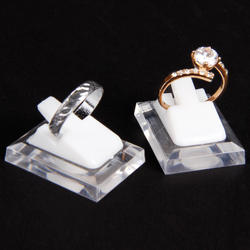 Tonvic Оптовая продажа, 20 шт пластиковое кольцо Дисплей клип ясно и белый стенд держатель Организатор реквизит высокого качества