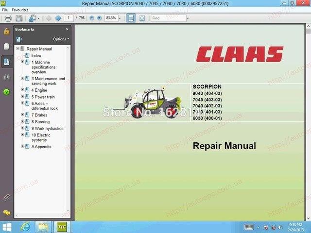 Für Claas WebTIC Offline Reparatur handbücher, verdrahtung und ...
