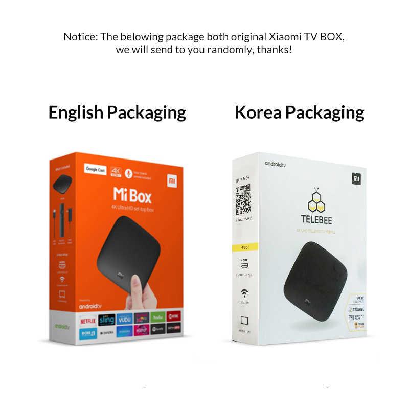 الدولية شياو mi mi صندوق 3 أندرويد 8.0 الذكية واي فاي بلوتوث 4K HDR H.265 مجموعة مربع رأس التلفاز يوتيوب Netflix DTS IPTV مشغل الوسائط