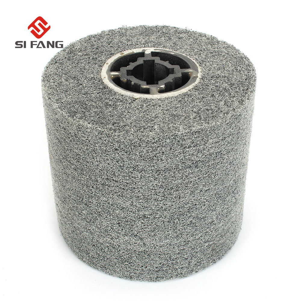 1 Piece 120*100*19mm +4 Groove Non-woven Unitized Polishing Wheel Nylon Fiber Wire Drawing Wheel