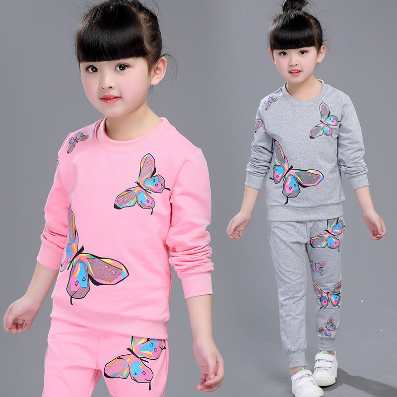 Pink Baby kids Girls clothes spring autumn cartoon clothing tracksuit set for girls sets 4 5 6 7 8 9 10 11 12 years old 43 summer fashion autumn 2016 girls dress girl cartoon dress baby clothes child clothing kids clothes for age 2 3 4 5 6 7 years old