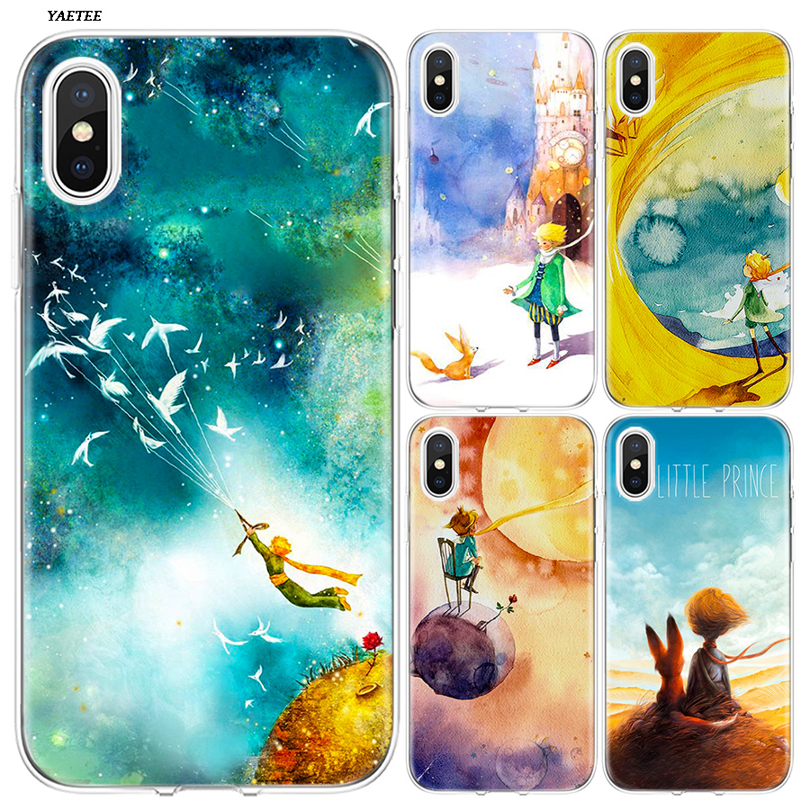 Galleria fotografica YAETEE Lovely the Little Prince fox Silicone Case Cover Hull Shell for Apple iPhone 7 8 6 6s Plus X 5 5S SE 5C