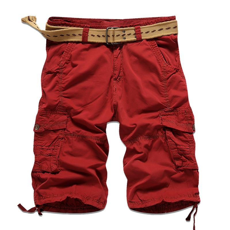 2017 Cargo Shorts Men Casual Summer Short Pants Men Brand Clothing Cotton Male Fashion Army Work Men Short Pants Plus Size 29-38