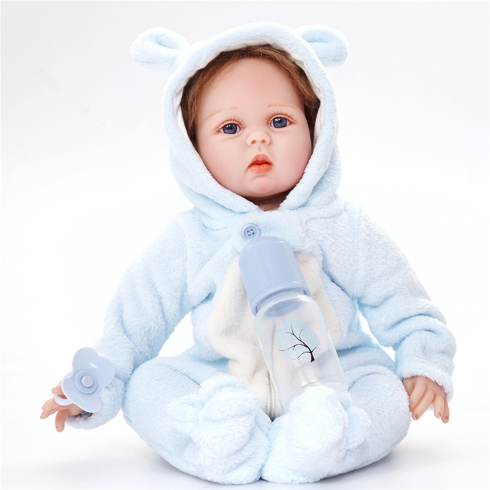 22 inches Realistic Reborn Girl Doll Soft Silicone Lovely Princess Newborn Baby with Cloth Body Toy for Kids Birthday Xmas Gift 22 inches realistic reborn girl doll soft silicone cute newborn baby with cloth body toy for kids birthday christmas gift