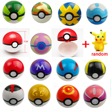 9-12 pcs/set Pokeball Toys Ball Free Random Figures Anime Outdoor Fun Sports Toy Balls 7cm Pokemon Go Pokeball Toys For Children
