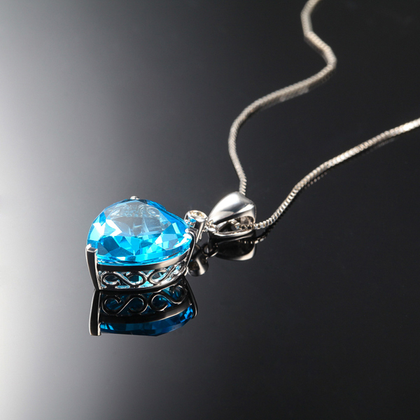 Zocai zodiac gem 7 ct certified topaz diamond 9k white gold blue zocai zodiac gem 7 ct certified topaz diamond 9k white gold blue heart pendant necklace 925 silver chain chain d01992 in necklaces from jewelry aloadofball Image collections