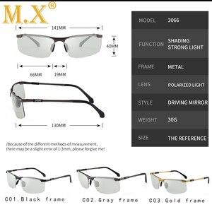 Image 3 - 2019 marke Photochrome Sonnenbrille Männer Polarisierte Chameleon Verfärbung sonnenbrille für männer mode randlose platz sonnenbrille