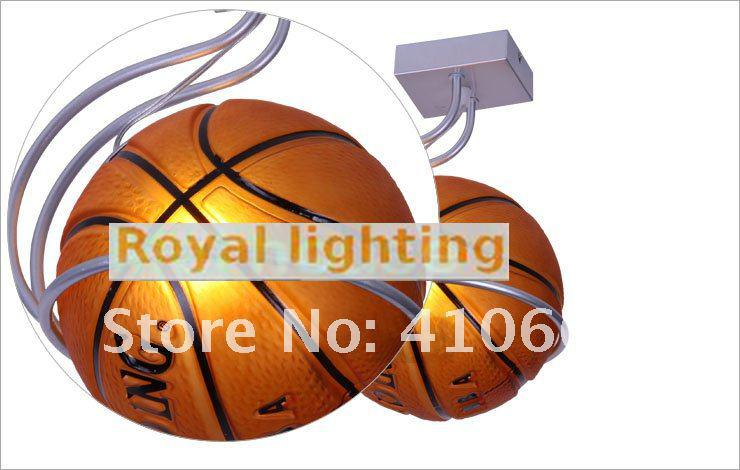 Ceiling Lights Super Star Basketball Lamp For Children Room Kid Glass Ball Ceiling Lights Modern Flush Metal Ceiling Lamp Bedroom Led Brown Bar Lights & Lighting