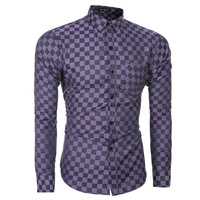 Designer New Fashion Casual Men Shirt Long Sleeve Mandarin Collar Slim Fit Korean Business Mens Dress Shirts Clothes