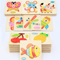 Baby Wooden Early Learning Geometry Educational Toys Puzzle Montessori 3D Wood Jigsaw Puzzles Toys For Children CL02486H