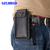 for Sony Xperia E4 Belt Clip Holster Case for Sony Xperia M5 C3 E3 Cover for Sony Xperia Z3 Plus Genuine Leather Waist Bag