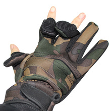 Anti Slip Durable Winter Fishing Gloves Cut Protector 3 Half Finger Full Finger Glove Switch Thick