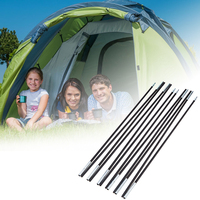 2pcs Set Tent Rod 7mm Outdoor Camping Aluminum Alloy Black Tent Pole Spare Replacement Tent Support