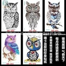 Environmental Tattoo Stickers Can Be Customized Owl Dominated Huaji Tattoo Stickers Personalized Fashion Tattoo Sticker