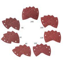 20 pcs Triangolare Carta Abrasiva Grana 40 240 Triangolo 90 millimetri 3.54 pollici Auto adesivo di Carta Vetrata di Lucidatura Levigatura disco Abrasivo Strumenti