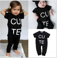 Letter Newborn Rompers Bebes Baby Boy Romper Branded Newborn Baby Clothes Jumpsuit Short Sleeve Baby Boy