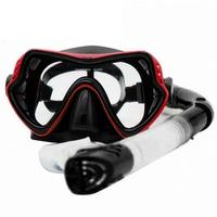 Snorkel Set Anti Fog Film Diving Mask Tempered Glass Goggle Dry Top Snorkel For Swimming Snorkeling