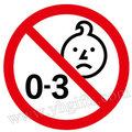 1000 PÇS/LOTE, 0-3 anos proibido adesivos, Não recomendado para crianças menores de 3 anos de idade, do jardim de Infância suprimentos. brinquedo Clássico