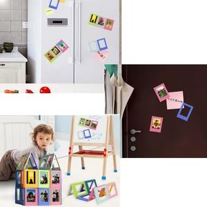 Image 5 - إطار صور المغناطيسي البسيطة 3 بوصة DIY الصورة مزيج الجمعية الجدول الديكور الثلاجة ملصقات ل فوجي Instax أفلام