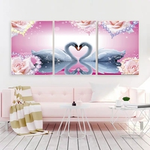 Laeacco Fantasy Swan Wall Artworkwork Animal Posters and Prints Nordic Home Decoration Canvas Painting Baby Bedroom Living Room