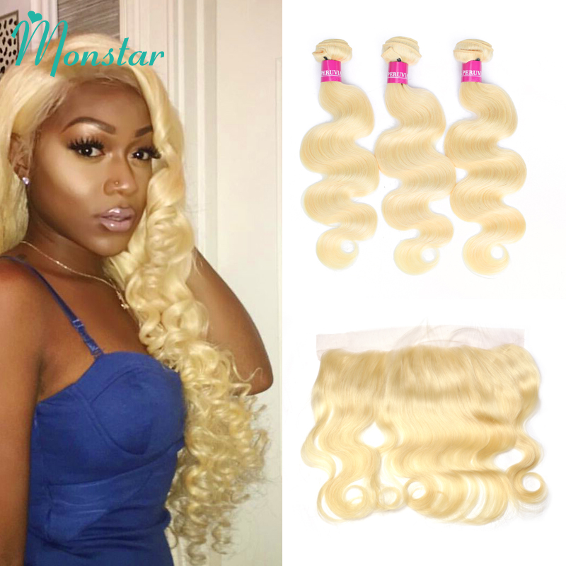 3/4 Bundles With Closure Precise Alipearl Blonde Hair Bundles With Frontal Colored #27 Lace Frontal Closure With Bundles Remy Hair Hair Extensions & Wigs