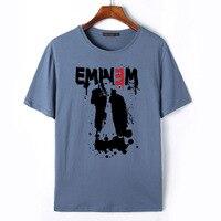 2018 New Eminem Print Man S T Shirt Hip Hop Male Tops 100 Cotton T Shirt