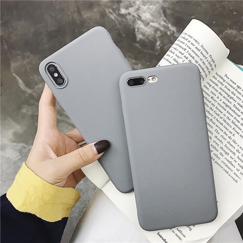 Luxury Gray matte Soft Tpu Phone Case for Samsung Note <font><b>8</b></font> <font><b>9</b></font> <font><b>5</b></font> 4 3 S8 S9 Plus S6 S7 Edge C5 C7 C9 Pro cover For Samsung S10 Plus image