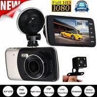 MUQGEW Top Marca Universal-Car Styling 4 ''IPS HD 1080 P Duplo Lente Da Câmera Do Carro DVR Gravador de Vídeo Traço Cam G-sensor de traseiro