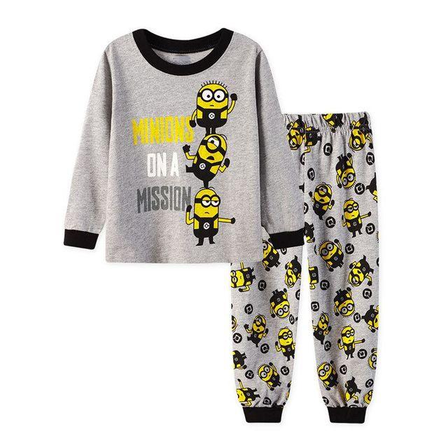 256f899aa318 kids Pajamas Sets pattern sleepwear boys Cartoon car nightclothes ...
