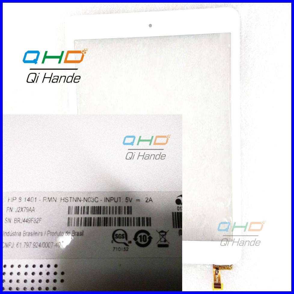 Free shipping 7.85'' inch White touch screen 100% New for HP COMPAQ...