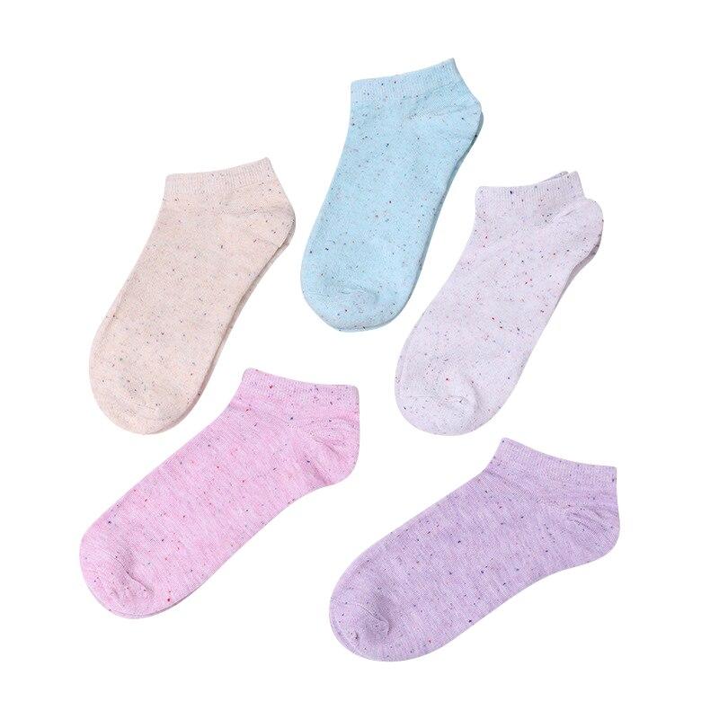 Femmes Coton Chaussettes Populaire Sueur Absorber Dames Courtes Chaussettes D'hiver Confortable Respirant Chaussettes Mode Femme 3 paires/lot