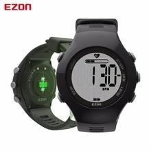 цена EZON T043 Smart watches Optical Sensor Heart Rate Monitor Fitness Digital Watch Pedometer Calorie Counter Men Women Sports Watch онлайн в 2017 году