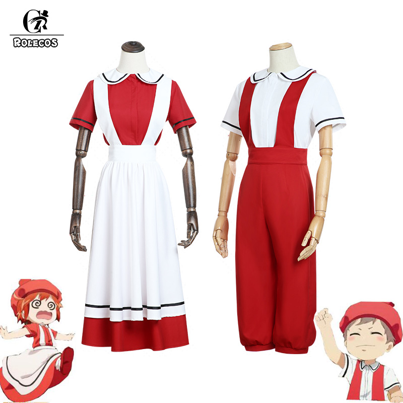 ROLECOS Anime Cells At Work Juvenile Red Blood Cell Cosplay Costume Hataraku Saibou Erythrocytes Cosplay Women Dress Man Uniform