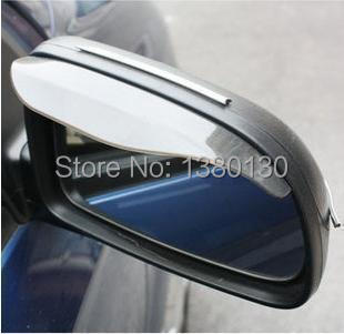 Free Shipping Smart Flexible Plastic Car Rear View Mirror Rain Shade Guard Sun Visor Shade Shield Shower Blocker Cover