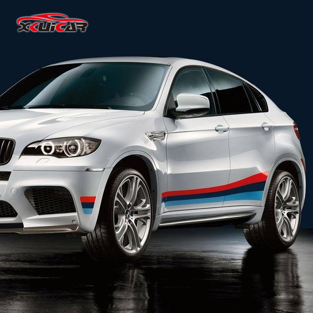 Bmw X6 Weight: Car Body Three Color Pull Flowers Decorative Car Stickers