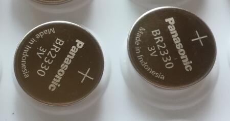 2 pçs/lote Original Novo Panasonic 3V BR2330 BR Bateria 2330 Botão Bateria de Célula tipo Moeda Baterias de Alta temperatura
