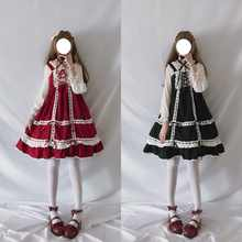 Lolita Dress Sweet Cute Japanese Kawaii Girls Princess Maid Vintage Baby Doll Lace Red Green Black Women Summer Skirt Bow - DISCOUNT ITEM  15% OFF All Category